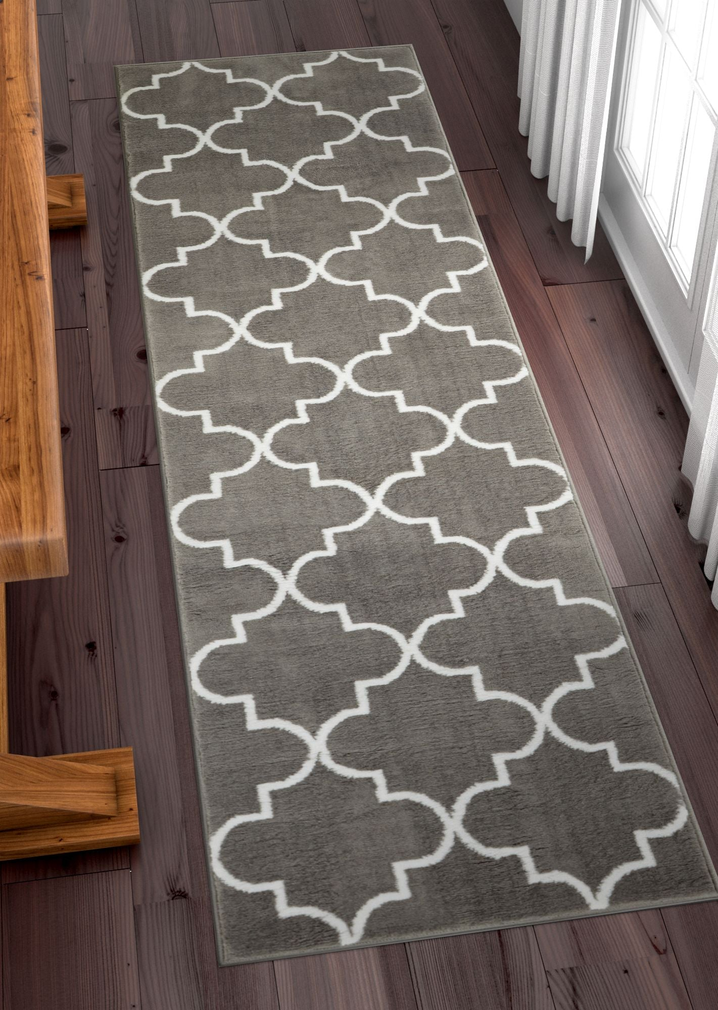 Daisy Lattice Grey Moroccan Trellis Area Rug Ruglots Com