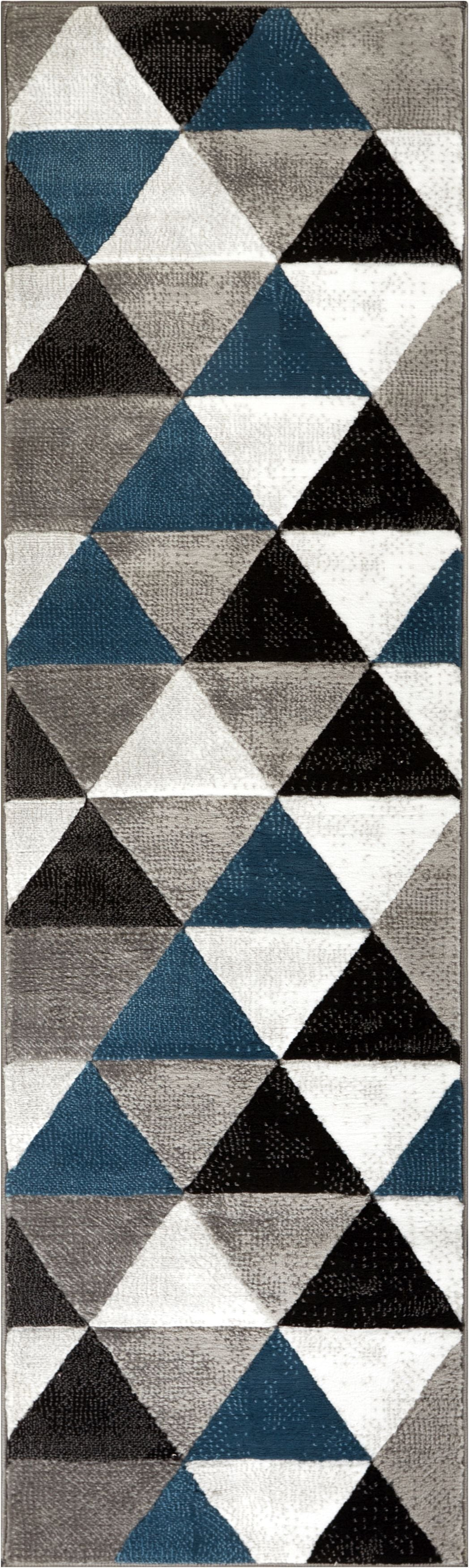 Gallery Of Arlo Tiles Blue Modern Triangle Pattern Area Rug With 34 Amazing Black Carpet Texture