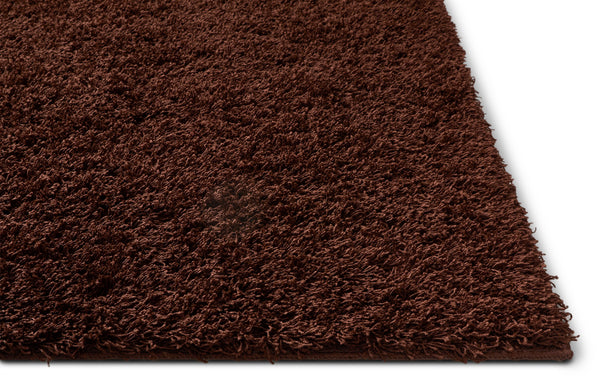 Soft And Fluffy Non Slip Shag Rug Solid Color Chocolate