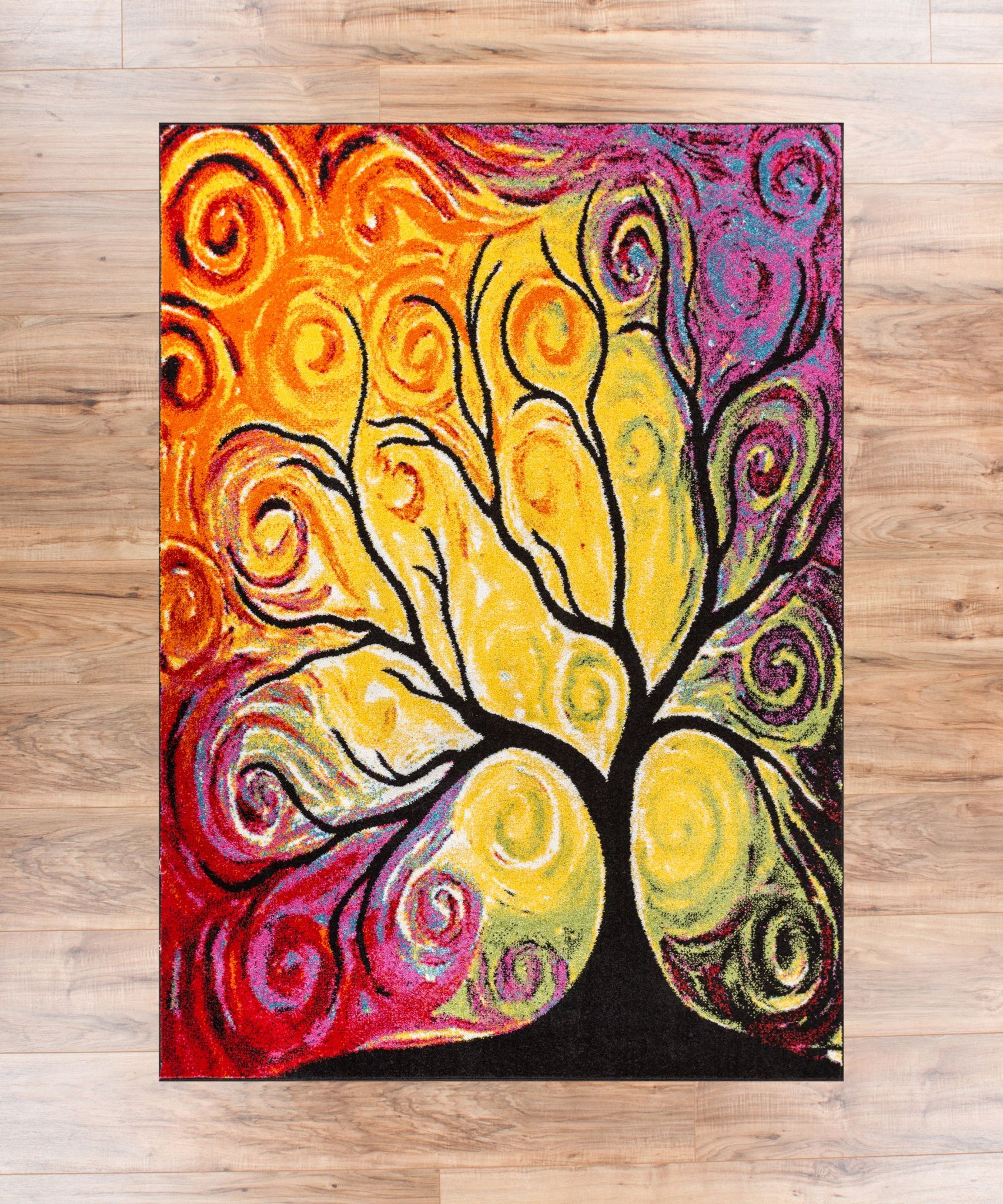 Fairytale Multi Yellow Orange Red Nature Modern Abstract