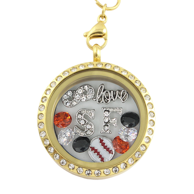 San Francisco Baseball Necklace