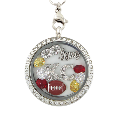 Kansas City Football Charm Necklace