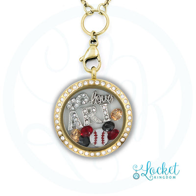 Arizona Baseball Charm Necklace