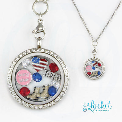 Army Mom Charm Necklace