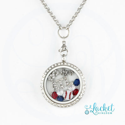 Atlanta Baseball Charm Necklace