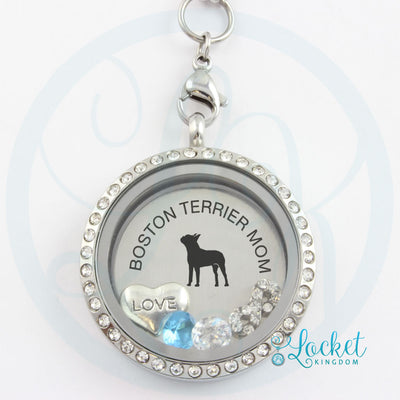 Boston Terrier Mom Charm Necklace