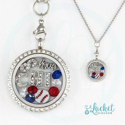 Chicago Baseball Charm Necklace