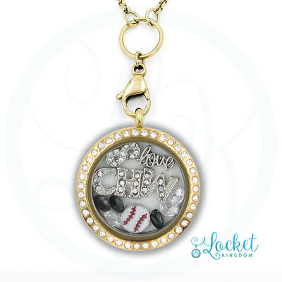 Chicago Baseball Charm Locket