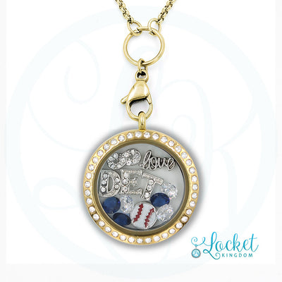 Detroit Baseball Charm Necklace