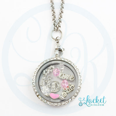 Infinity Love HD Charm Necklace