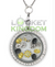 Infinity Love Beekeeping Charm Locket