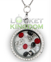 Infinity Love Bowling Charm Lockets