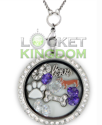 Infinity Love Dachshunds Charm Locket