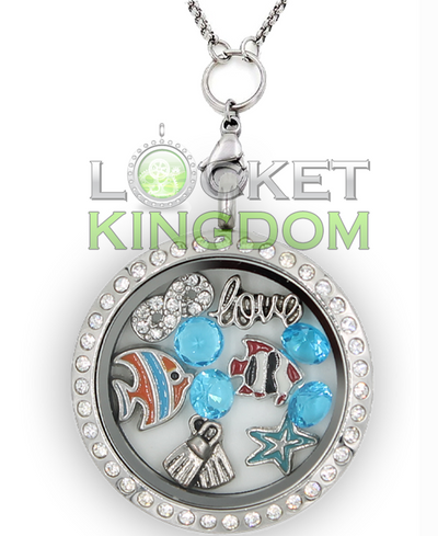 Infinity Love Diving Charm Locket
