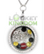 Pittsburgh Football Charm Necklace