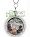 Infinity Love Texas Tech Basketball Charm Locket