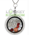 Infinity Love Wisconsin Basketball Locket