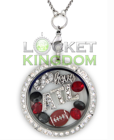 Atlanta Football Charm Necklace