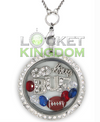 Buffalo Football Charm Necklace