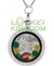 Green Bay Football Charm Necklace