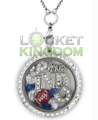 Indianapolis Football Charm Lockets