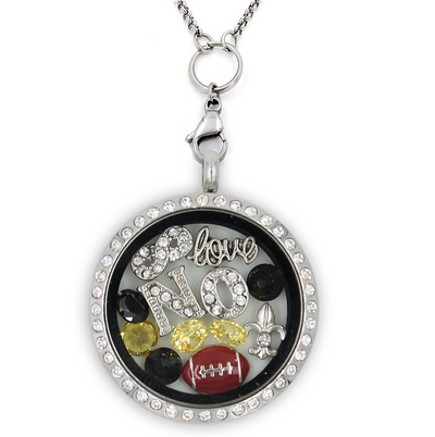 New Orleans Football Charm Lockets