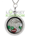 NYJ Football Charm Lockets