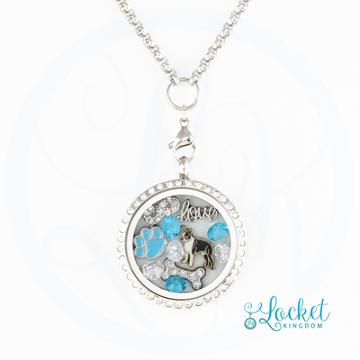 Infinity Love Boston Terrier Charm Locket