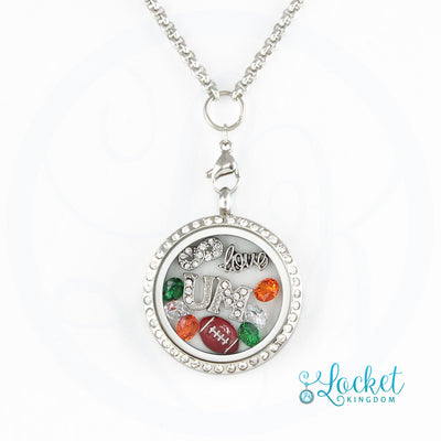 Infinity Love Miami Football Locket