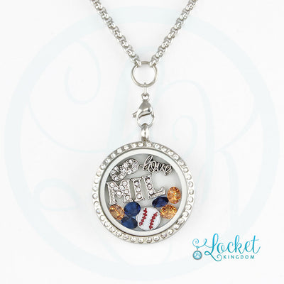 Infinity Love Milwaukee Baseball Charm Necklace