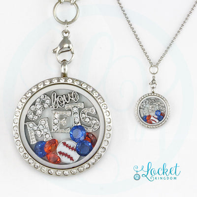 NYM Baseball Charm Necklace