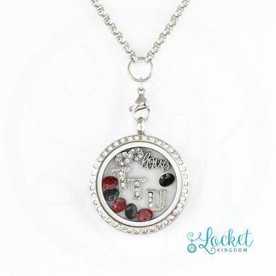 Infinity Love Texas Tech Charm Locket