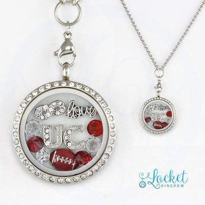 Infinity Love University Of Chicago Football Locket