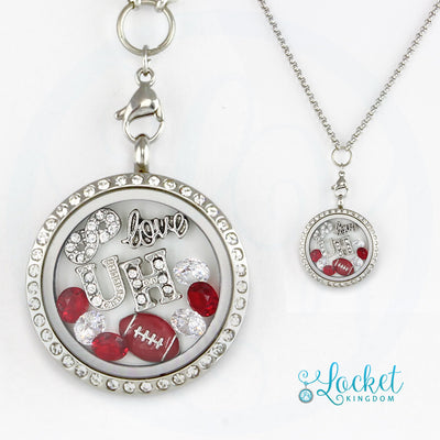 Infinity Love University Of Houston Football Charm Locket