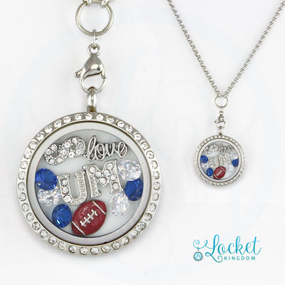 Infinity Love University Of Memphis Football Charm Locket
