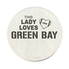 Lady Loves Green Bay Football Backplate