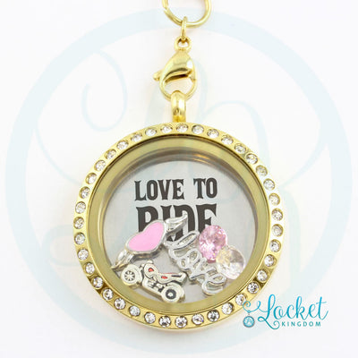 Love To Ride Charm Necklace
