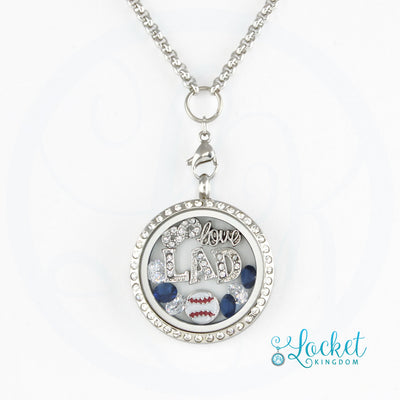 L.A. Baseball Charm Necklace