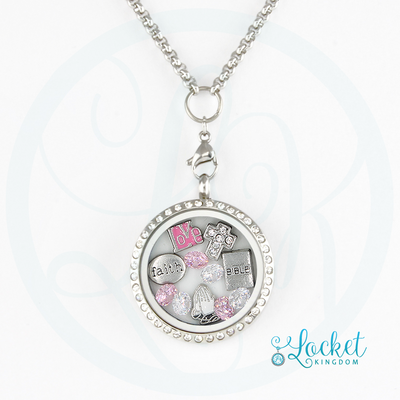 Love Faith Prayer Charm Locket