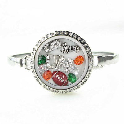 Miami Football Locket Bracelet
