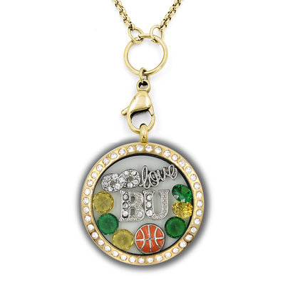 Infinity Love Baylor Basketball Locket