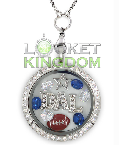 Dallas Football Charm Necklace