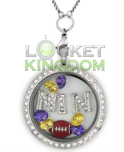 Minnesota Football Charm Necklace