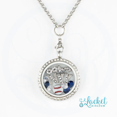 New York Baseball Charm Necklace