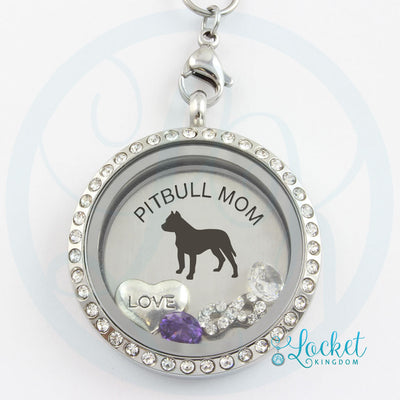 Pitbull Mom Charm Necklace
