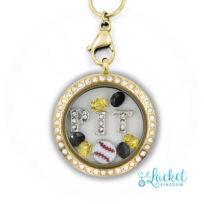 Pittsburgh Baseball Charm Necklace
