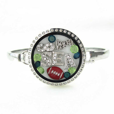 Seattle Football Locket Bracelet