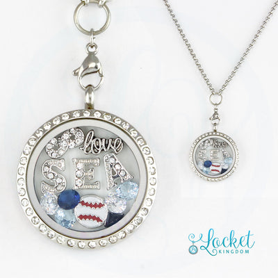 Seattle Baseball Necklace
