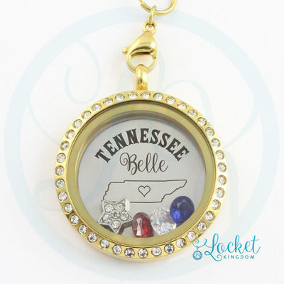Tennessee Belle Charm Locket Necklace