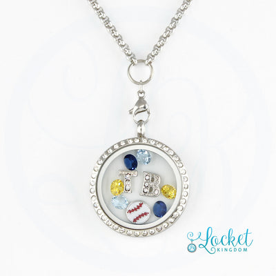 Tampa Bay Baseball Charm Necklace